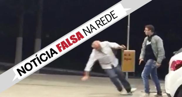 Vídeo em redes sociais: homem agredido em posto não é Antonio Fagundes, confirma TV Globo Reprodução/