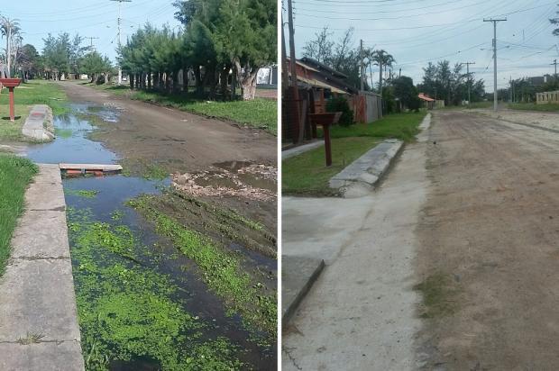 Moradores de Imbé recebem pavimentação em via depois de reportagem do Diário Arquivo Pessoal / Leitor/DG/Leitor/DG