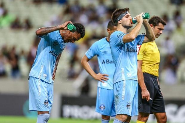 """Cacalo: """"Percebi um pouco de falta de sorte ao Grêmio"""" LUCAS UEBEL/Grêmio / Divulgação"""