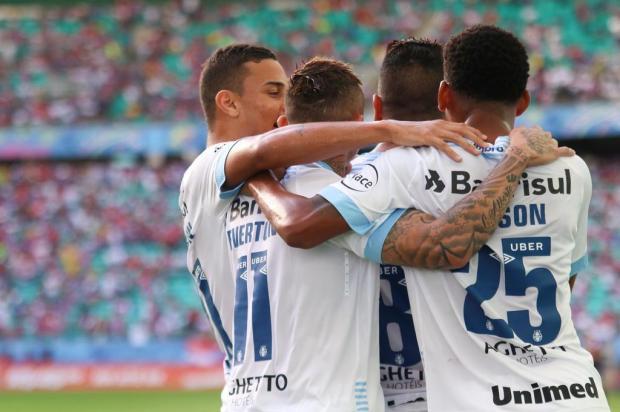 """Guerrinha: """"A defesa foi a grande responsável pela vitória do Grêmio na Bahia"""" TIAGO CALDAS/FOTOARENA/ESTADÃO CONTEÚDO"""