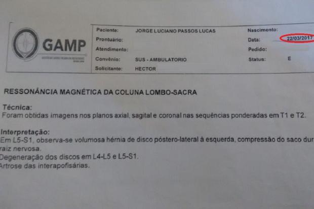 Paciente espera há mais de um ano por consultas com especialistas, em Canoas Arquivo Pessoal / Leitor/DG/Leitor/DG