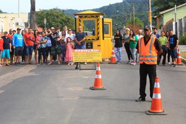 Para inibir violência, comunidade coloca guaritas em entradas de loteamento Tadeu Vilani/Agencia RBS