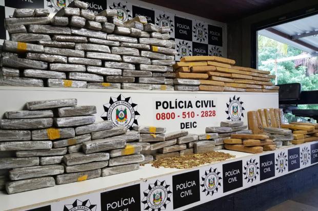 Polícia Civil apreende 170kg de maconha escondidos em carga de amendoim Polícia Civil / Divulgação/Divulgação