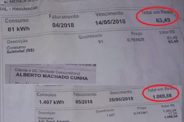 Consumidores têm aumentos de até 1.584% na conta de luz, em Porto Alegre e Região Metropolitana Arquivo Pessoal / Leitor/DG/Leitor/DG