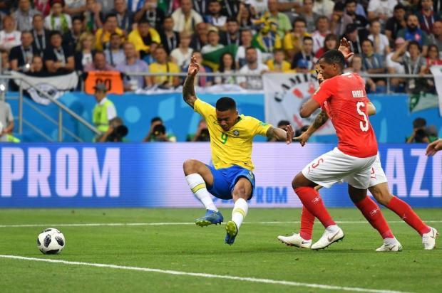 """Guerrinha: """"O Brasil tem um problema chamado Gabriel Jesus"""" JOE KLAMAR/AFP"""