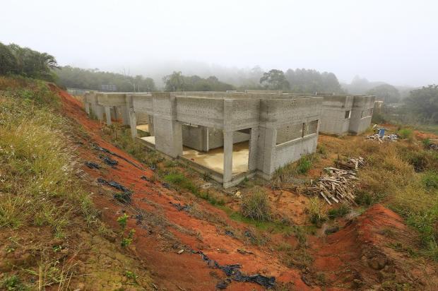 Em Viamão, construção de UBS e creche está parada há oito meses e atrasada em mais de um ano Mateus Bruxel / Agência RBS/Agência RBS