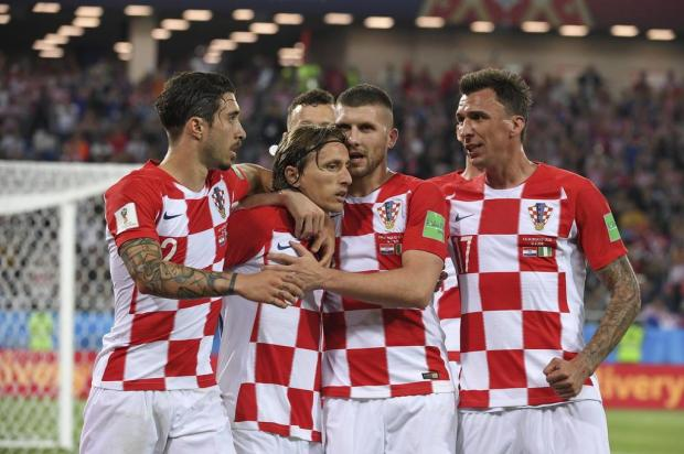 """Neto Fagundes: """"Torço pela Croácia porque tem as cores do Inter"""" Patrick HERTZOG/AFP"""