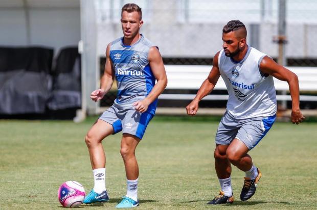 """Guerrinha: """"Grêmio vai experimentar uma nova realidade sem Maicon e Arthur"""" LUCAS UEBEL/GRÊMIO,Divulgação"""