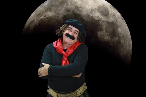 """Guri de Uruguaiana fala sobre o eclipse lunar: """"Fenômeno tão raro quanto o Licurgo chegar na hora aos compromissos"""" Artebiz / Divulgação/Divulgação"""