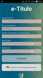 Conheça o app substitui o título de eleitor Reprodução / e-Título/e-Título