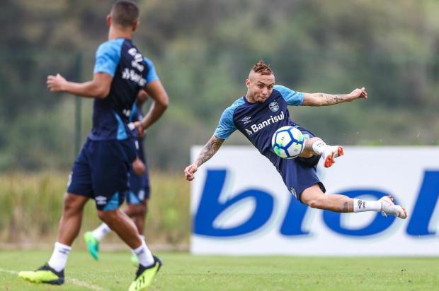 """Guerrinha: """"Jogo contra o Corinthians serve para arquivar a eliminação da Copa do Brasil"""" LUCAS UEBEL/Grêmio/Divulgação"""