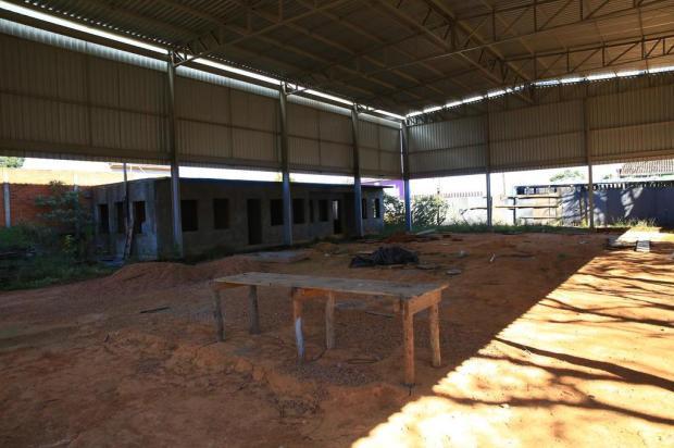 Construção de ginásio de escola em Porto Alegre está paralisada há dois anos Tadeu Vilani/Agencia RBS