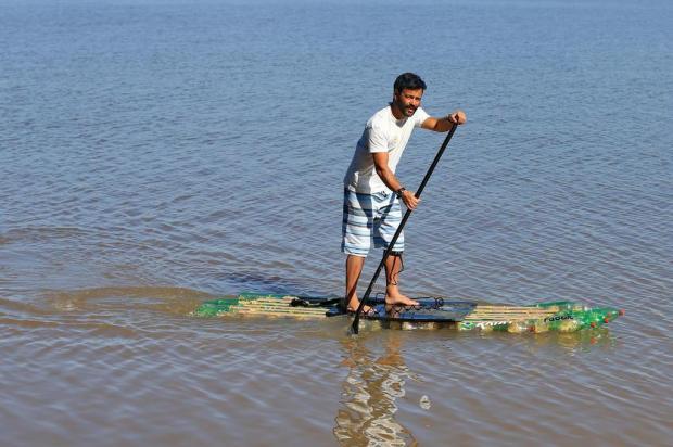 Mergulhador que se atira em causas nobres Júlio Cordeiro/Agencia RBS