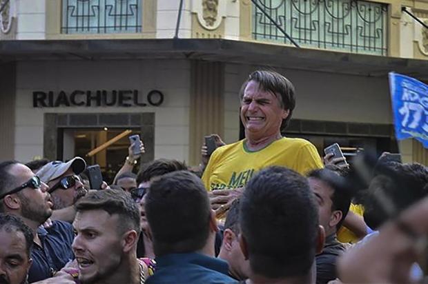 """Manoel Soares: """"Facada que nos leva a pensar"""" Raysa LEITE/AFP"""