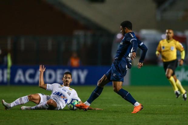 """Guerrinha: """"Santos e Grêmio fizeram um jogo de muita marcação e deixaram de subir na tabela"""" Lucas Uebel/Gremio.net"""