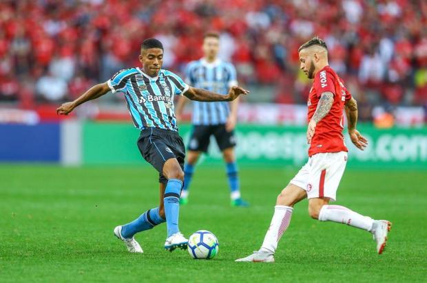 """Guerrinha: """"Jean Pyerre foi a grande notícia do Grêmio na derrota para o Inter"""" LUCAS UEBEL/GREMIO FBPA"""