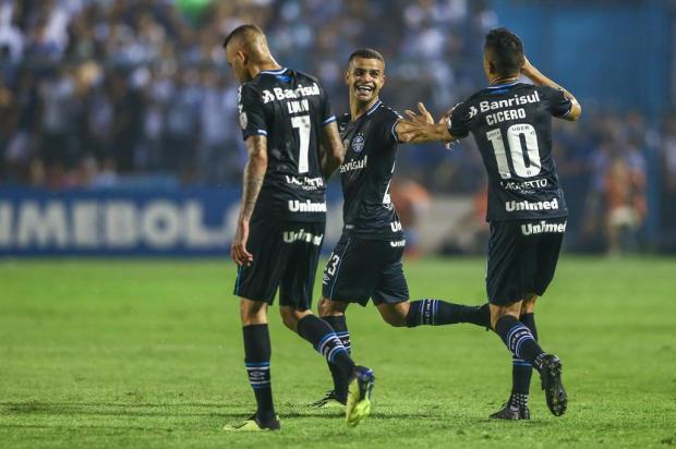 """Cacalo: """"Grêmio traz consigo da Argentina a retomada das boas atuações"""" LUCAS UEBEL/Gremio.net"""