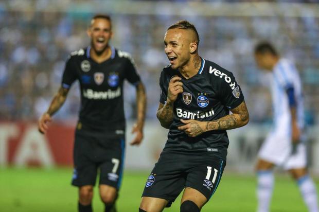"""Guerrinha: """"Tucumán vem a Porto Alegre visitar a cidade e se despedir da Libertadores"""" LUCAS UEBEL/GREMIO FBPA"""