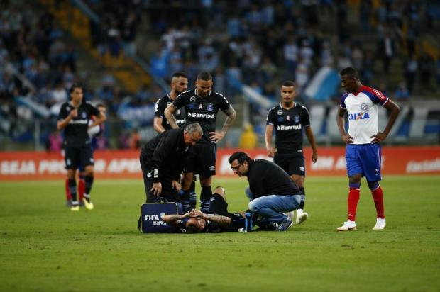 """Cacalo: """"Grêmio contra o relógio para recuperar lesionados"""" Félix Zucco/Agencia RBS"""