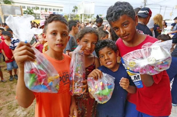 Gurizada ganha festa para comemorar o Dia das Crianças na Lomba do Pinheiro Robinson Estrásulas/Agencia RBS