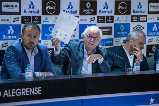 """Luciano Périco: """"Julgamento do caso Gallardo terá um teor mais político do que técnico"""" Lucas Uebel / Grêmio, Divulgação/Grêmio, Divulgação"""