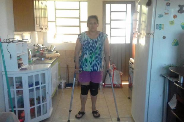 Moradora de Viamão busca há cinco anos tratamento para ruptura de ligamento do joelho Arquivo Pessoal / Leitor/DG/Leitor/DG