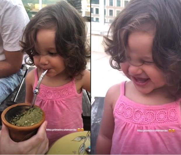 Fofura: Yanna Lavigne mostra vídeo da filha tomando chimarrão Instagram / Reprodução/Reprodução