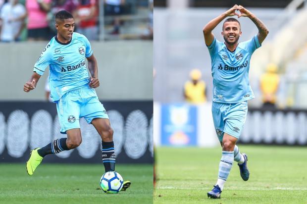 """Cacalo: """"Penso que, em 2019, teremos dois grandes jogadores"""" Montagem sobre fotos de Lucas Uebel / Grêmio/Divulgação/Grêmio/Divulgação"""