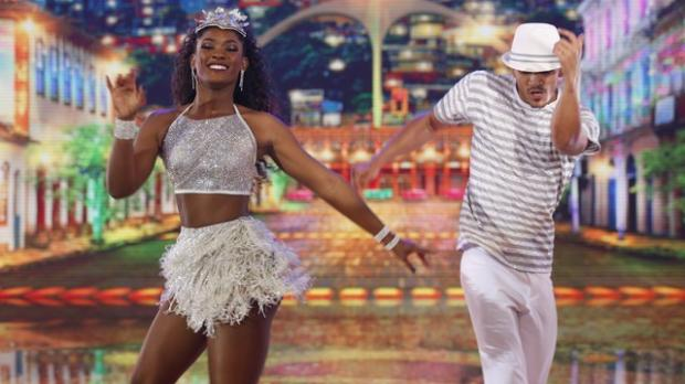 """Dança dos Famosos"": Erika Januza fica na frente na semifinal Joca Costa / TV Globo/TV Globo"