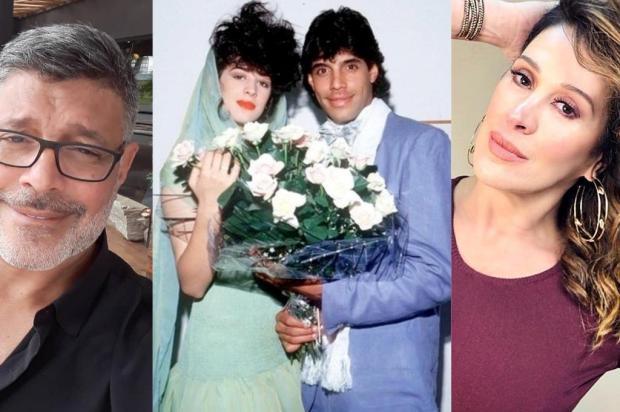 Cláudia Raia faz piada com o seu casamento com Alexandre Frota Colagem/Reprodução