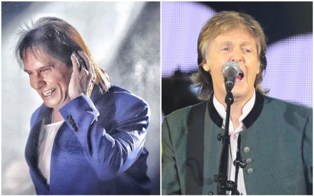 Roberto Carlos confessa que já quis ter o cabelo de Paul McCartney Montagem sobre fotos de Carlos Macedo e Lauro Alves / Agência RBS/Agência RBS
