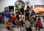 Professor de capoeira busca contribuições para compra de abadás, em Porto Alegre Carlos Macedo / Agência RBS/Agência RBS
