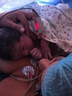 Cris Silva recorda o nascimento do filho Matheus Arquivo Pessoal/