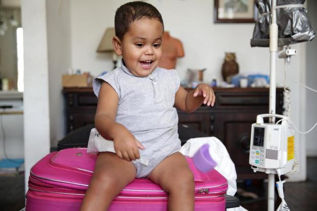 Bebê com síndrome rara vai fazer transplante nos Estados Unidos Camila Domingues/Agencia RBS