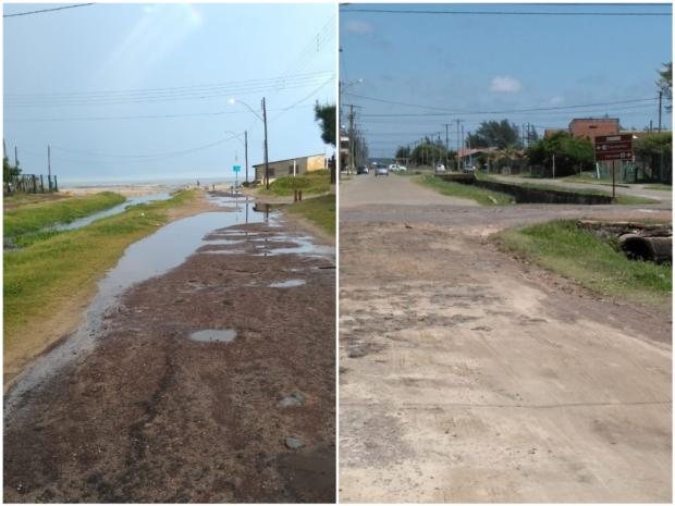 Avenida inacabada complicaacesso à praia, em Balneário Pinhal LeitorDG / Arquivo Pessoal/Arquivo Pessoal