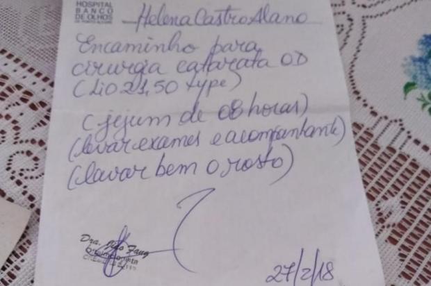Espera de um ano por cirurgia de catarata prejudica idosa em Porto Alegre Arquivo Pessoal/Arquivo pessoal