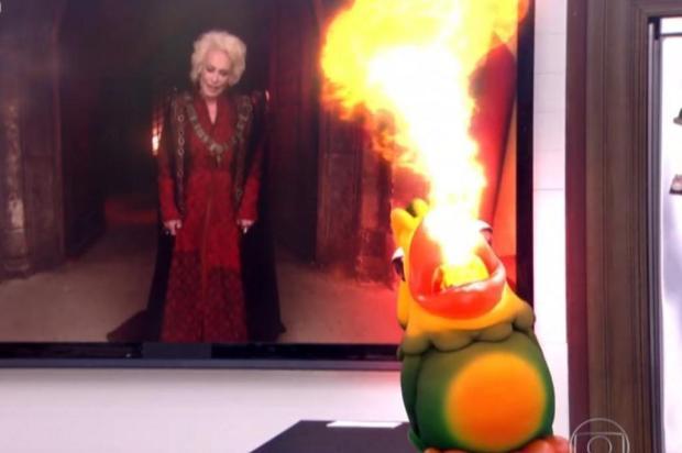 """Globo faz paródia com """"Game of Thrones"""" e coloca Louro José cuspindo fogo Reprodução/Globo"""