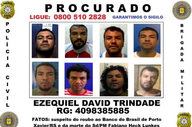 Apontado pela polícia como autor de morte de policial militar em Porto Xavier fugiu de prisão em fevereiro Polícia Civil/Divulgação