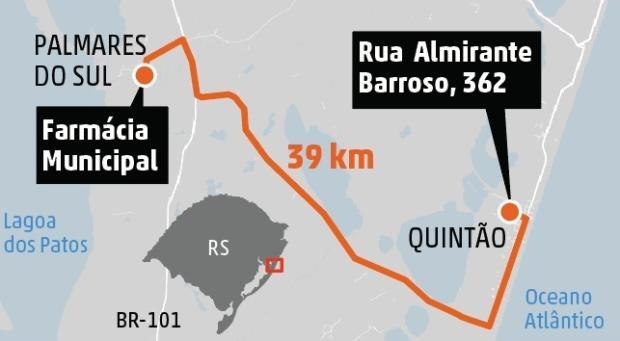 Para buscar medicamentos, moradores de Quintão enfrentam 39 quilômetros Gabriel Renner / Agência RBS/Agência RBS