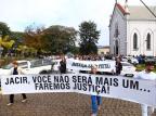 Manifestação pede justiça ao caso do gerente bancário assassinado em Anta Gorda Omar Freitas / Agência RBS/Agência RBS