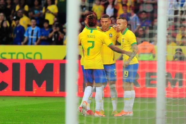 O Brasil não terá dificuldades para se classificar em primeiro no Grupo A da Copa América Porthus Junior/Agencia RBS