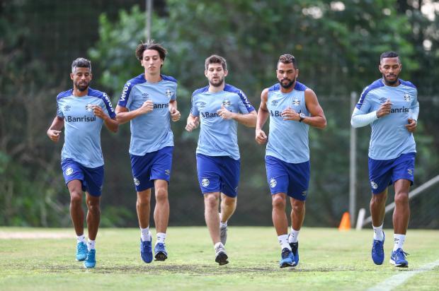 Cacalo: boas novas na reapresentação do Grêmio Lucas Uebel / Grêmio FBPA/Grêmio FBPA