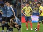 Cacalo: errei feio ao imaginar que Uruguai e Colômbia seriam adversários mais perigosos para o Brasil Montagem sobre fotos de AFP / JUAN MABROMAT e NELSON ALMEIDA/JUAN MABROMAT e NELSON ALMEIDA
