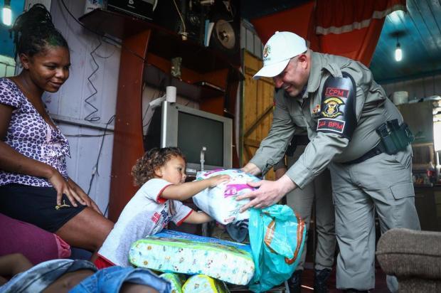Projeto da Brigada Militar de Alvorada distribui duas toneladas de alimentos em dois meses Isadora Neumann/Agencia RBS