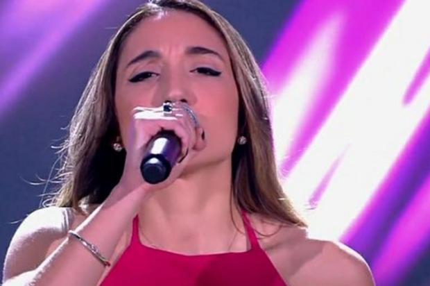 """Vocalista do Samba e Amor, terceira gaúcha no """"The Voice"""" aposta na música brasileira Reprodução/Globo"""