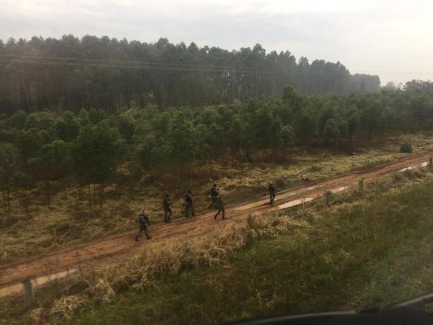 Brigada Militar fecha cerco a ladrões que atacaram banco em Vale Verde Divulgação / Brigada Militar/Brigada Militar
