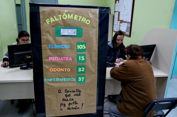 """Unidades de saúde adotam """"faltômetros"""" para chamar a atenção de usuários sobre faltas em consultas Fernando Gomes/Agencia RBS"""