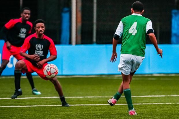 Integração e troca de cultura em campo na Copa dos Refugiados Omar Freitas/Agencia RBS