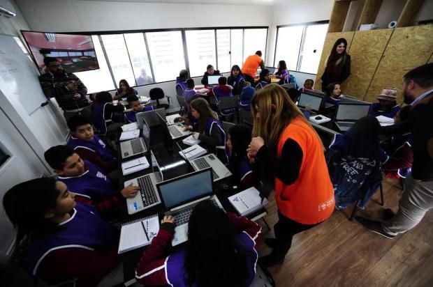 Contêineres transformados em sala de aula começam a atender alunos da periferia de Porto Alegre Ronaldo Bernardi/Agencia RBS