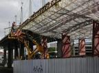 Parte do telhado do Terminal Triângulo está pronta Mateus Bruxel/Agencia RBS